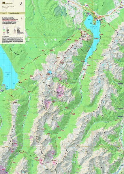 Travers Sabine Circuit Topographic Map Newtopo Nz Ltd