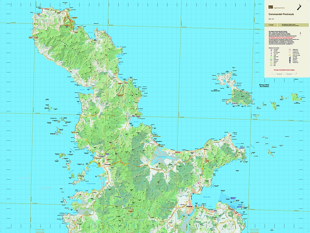 Road Map Of The North Island Of New Zealand